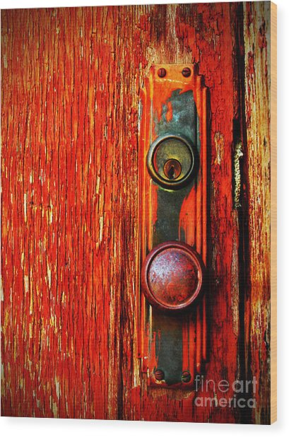 The Door Handle  Wood Print