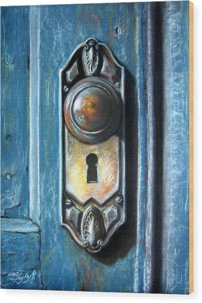 The Door Knob Wood Print