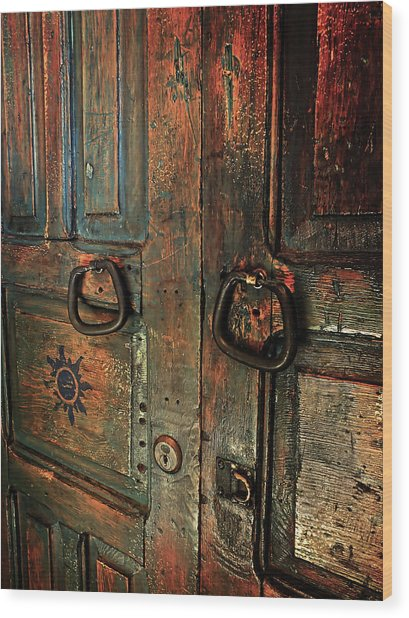 The Door Of Many Colors Wood Print
