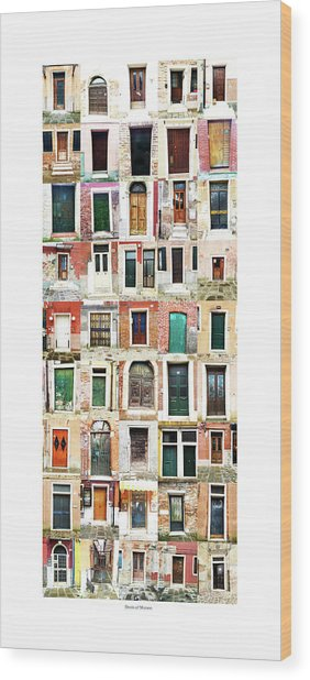 The Doors Of Murano Italy Wood Print