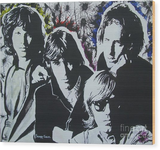The Doors Wood Print