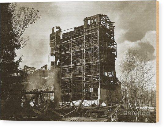 The Dorrance Breaker Wilkes Barre Pa 1983 Wood Print