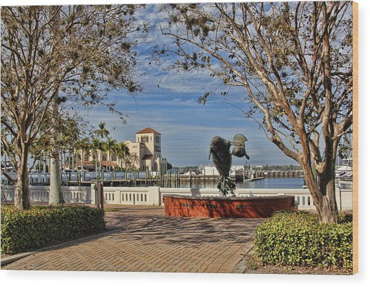 The Downtown Bradenton Waterfront Wood Print