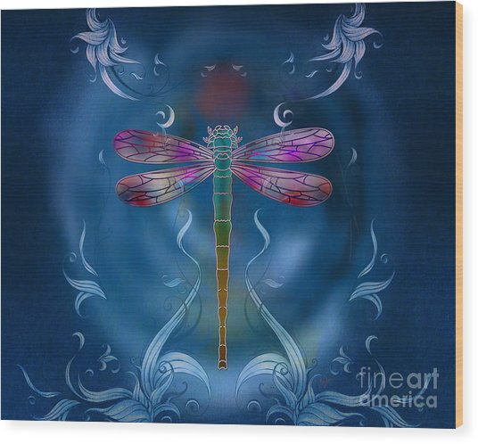 The Dragonfly Effect Wood Print