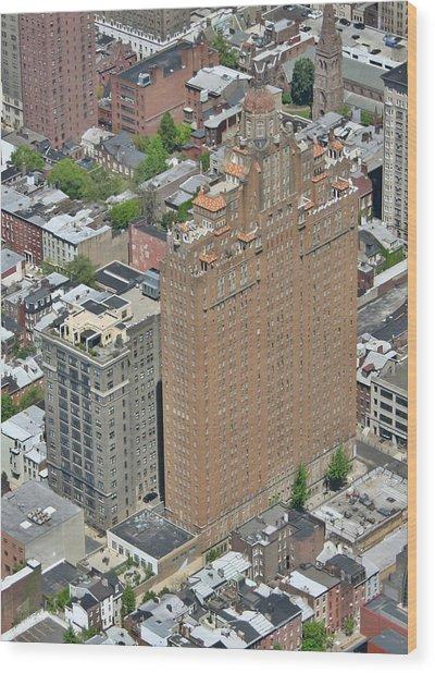 The Drake Apartments Philadelphia Wood Print