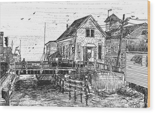 The Drawbridge Wood Print