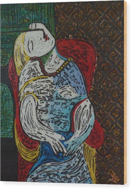 The Dream Walker -le Reve Zombi  Wood Print