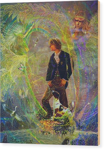 The Dreamer-angel Tarot Card Wood Print