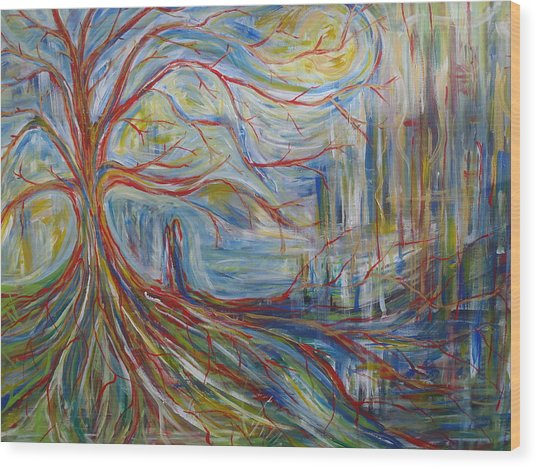 The Dreaming Tree Wood Print by Made by Marley