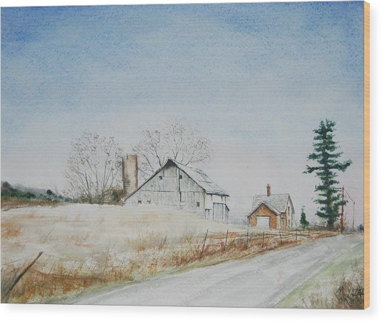 The Drockner Place Wood Print by Mike Yazel