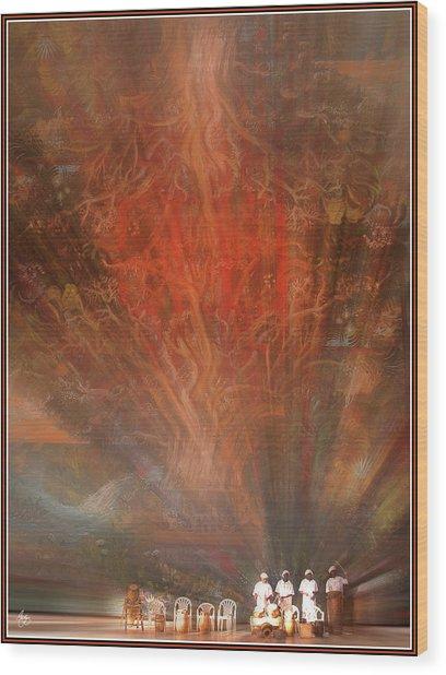 The Drumbeat Rising Wood Print