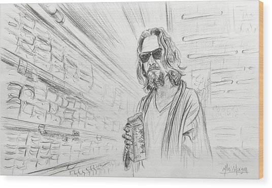 The Dude Abides Wood Print