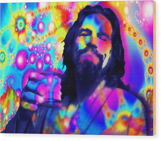The Dude The Big Lebowski Jeff Bridges Wood Print
