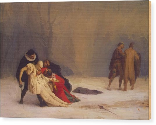 The Duel After The Masquerade Wood Print