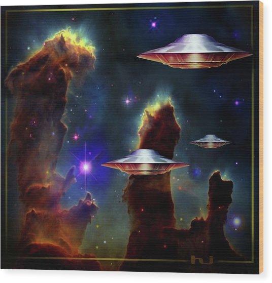 The  Eagle  Nebula  Wood Print