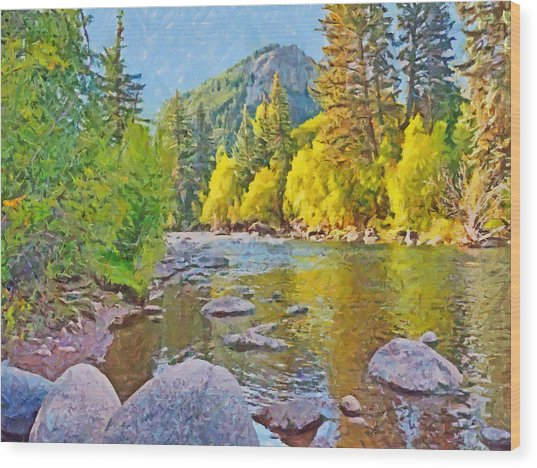 The Eagle River In October Wood Print