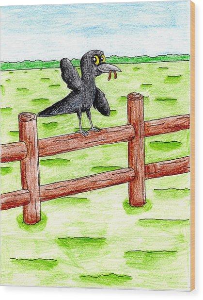The Early Bird Wood Print