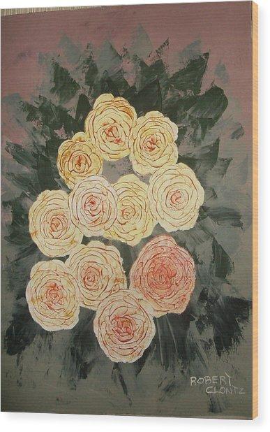 The Early Work Of Robert Clontz Wood Print by Anne-Elizabeth Whiteway