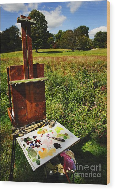 The Easel Wood Print by Jim  Calarese