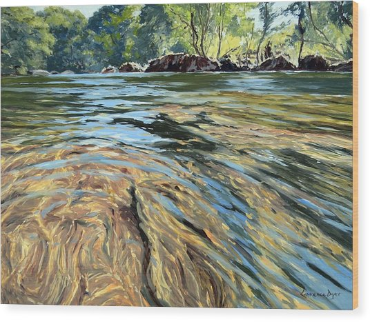 The East Dart River Dartmoor Wood Print
