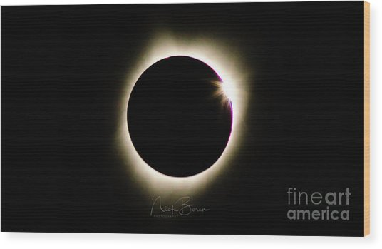 The Edge Of Totality 2 Wood Print