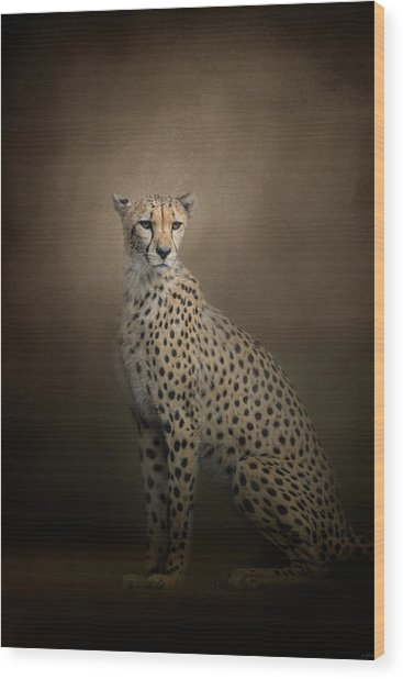 The Elegant Cheetah Wood Print