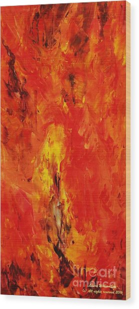 The Elements Fire #1 Wood Print