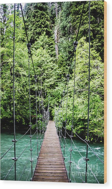 The Emerald Crossing Wood Print