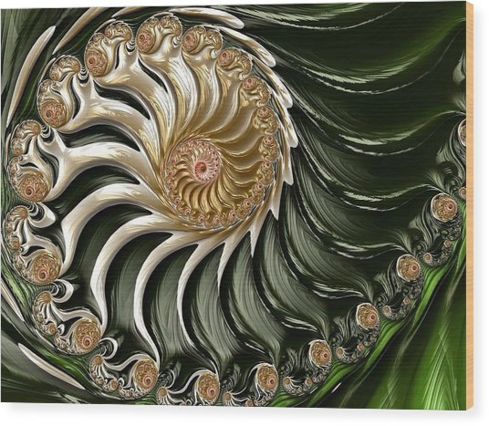The Emerald Queen's Nautilus Wood Print