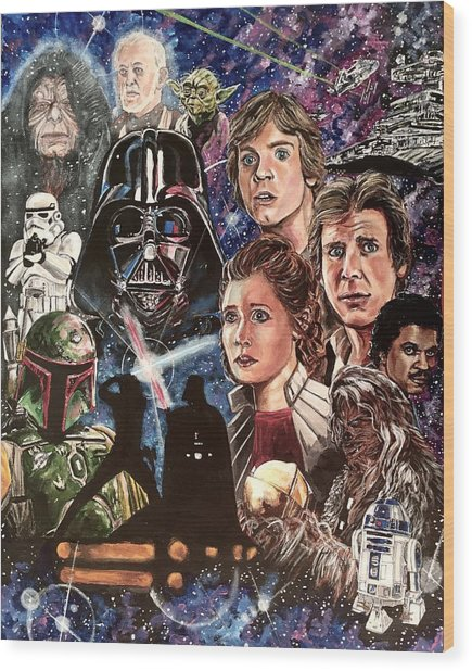 The Empire Strikes Back Wood Print
