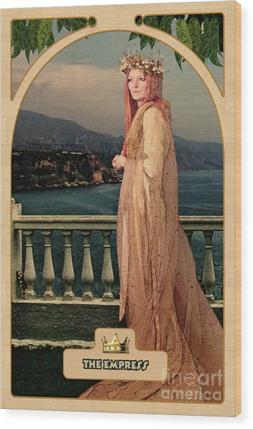 The Empress Wood Print
