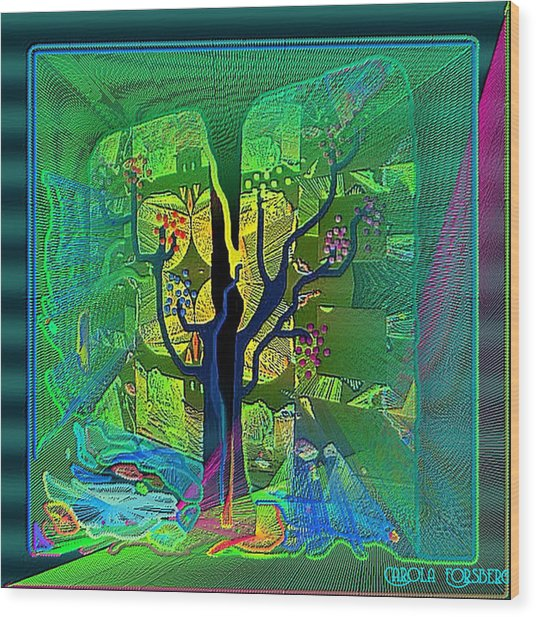 The Enchanted Forest Wood Print by Carola Ann-Margret Forsberg