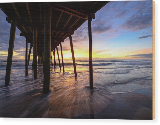 The Enchanted Pier Wood Print