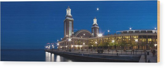The End Of Navy Pier In Chicago Wood Print
