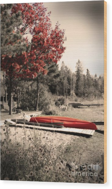 The End Of Summer Wood Print