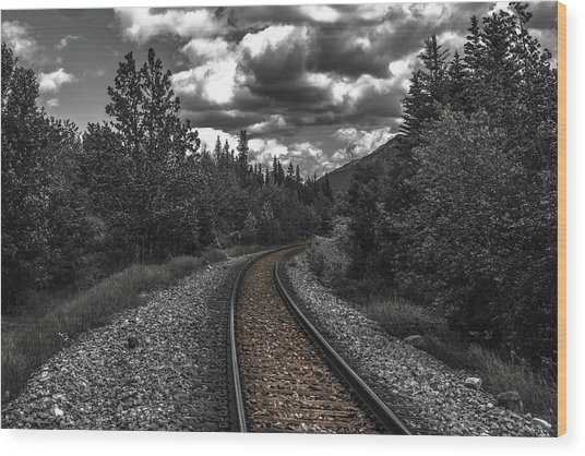 The End Of The Line Wood Print