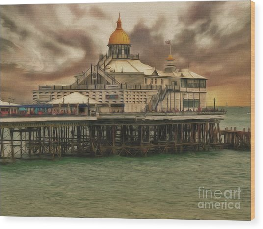 The End Of The Pier Show Wood Print