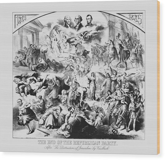 The End Of The Republican Party Wood Print