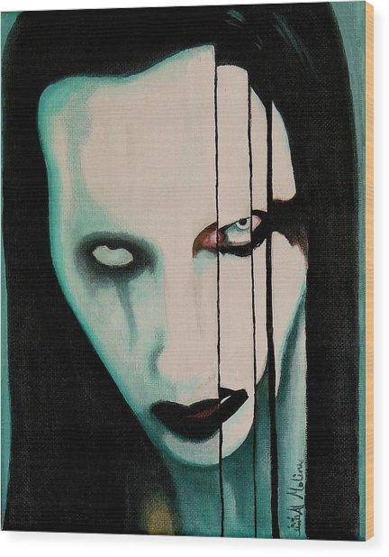 The Enigma Marilyn Wood Print by Al  Molina