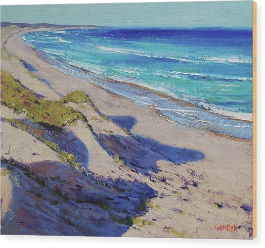 The Entrance Beach Dunes, Australia Wood Print