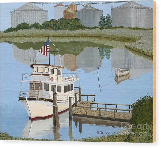 The Essence Of Tappahannock Wood Print by Jennifer  Donald