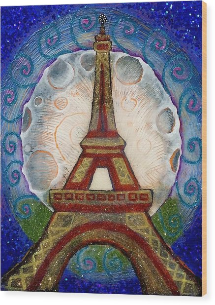 The Evening Of A Ready-wish Upon A Parisian High Point Wood Print
