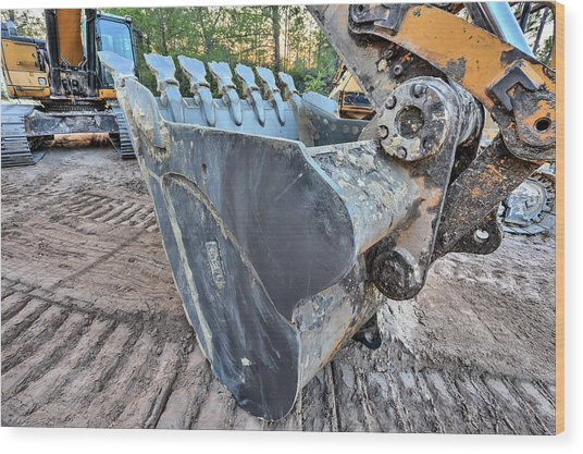 The Excavator  Wood Print by JC Findley