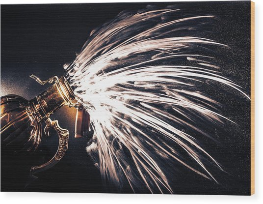 The Exploding Growler Wood Print