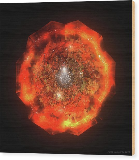 The Eye Of Cyma - Fire And Ice - Frame 146 Wood Print