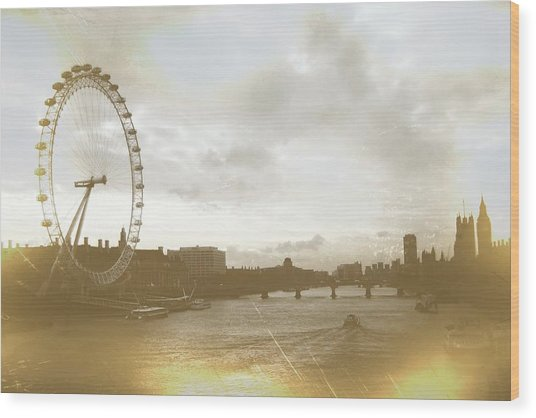 The Eye Of London Art Wood Print by JAMART Photography