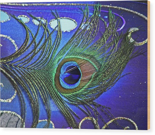 The Eye Of The Peacock Wood Print