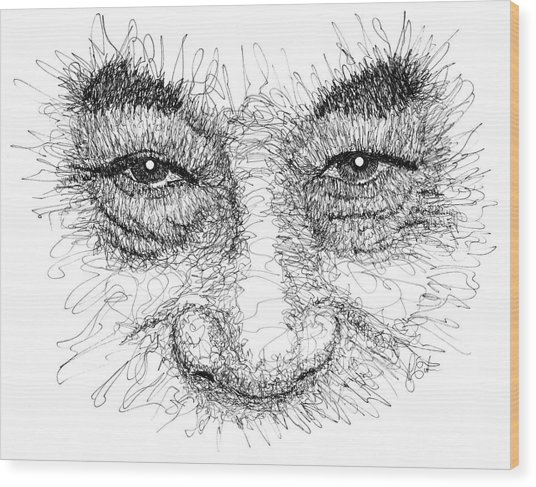 The Eyes Of The Dalai Lama Wood Print