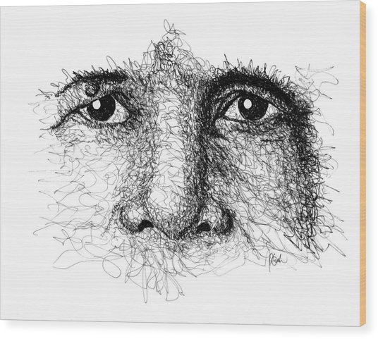 The Eyes Of Thich Nhat Hanh Wood Print