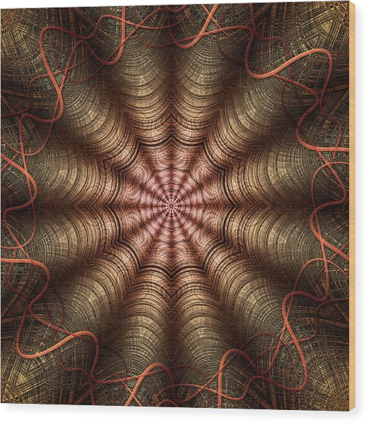 The Fabric Of The Space-time Continuum Wood Print